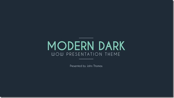 Modern Dark - Professional Presentation Template
