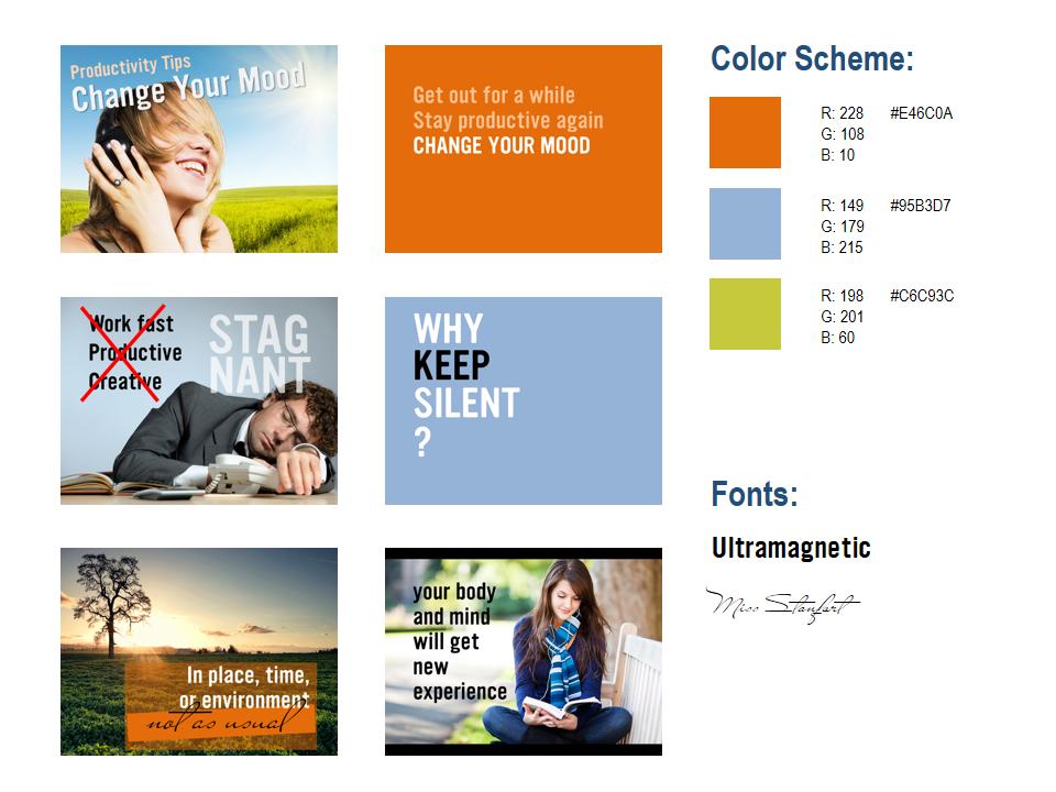 Color Scheme and Fonts