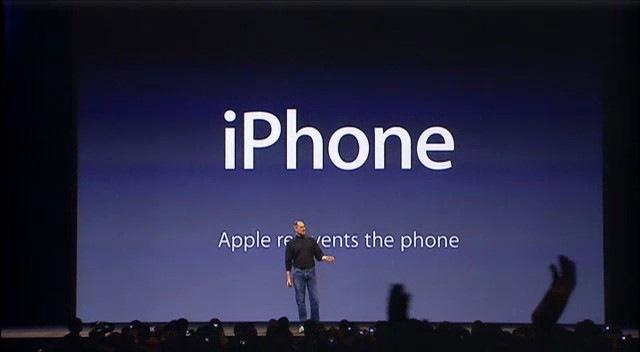 Steve jobss presentation techniques revealed steve jobs slide apple reinvents the phone toneelgroepblik Image collections